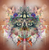Esoteric illustration of eye Royalty Free Stock Images