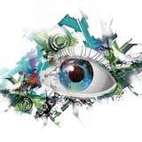 Esoteric illustration of eye Stock Photography