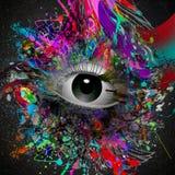 Esoteric illustration of eye Royalty Free Stock Photos