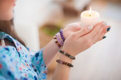 Free Esoteric In A Magic Candle Close-up And Copy Space. Fortune Telling By A Candle Royalty Free Stock Photo - 171765115