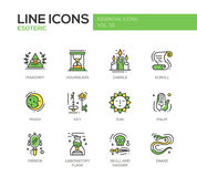 Esoteric - line design icons set Royalty Free Stock Photo