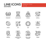 Esoteric - line design icons set Stock Photo
