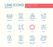 Esoteric - line design icons set Stock Images