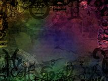 Esoteric magic background. Esoteric magic colorful astrological background Royalty Free Stock Image