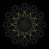 Esoteric mandala drawing, yoga and meditation Royalty Free Stock Photos