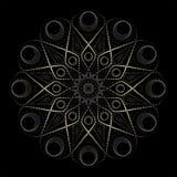 Esoteric mandala drawing, yoga and meditation. Mandala Yoga and medetatsii. drawing of the lines royalty free illustration