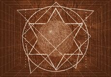 Esoteric Mystical Geometry Royalty Free Stock Photography