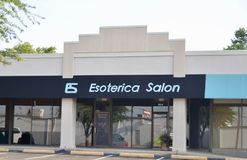Esoterica salong, Fort Worth, Texas royaltyfria bilder