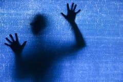 Esotericist-Schattenbild eines Mannes lizenzfreie stockfotos