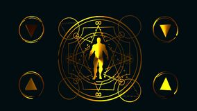 Esoterische Mystieke Symbolen stock illustratie