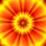 Esoterisk bild av den glödande cirkeln Arkivbild