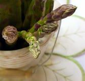 Espárrago en florero Fotos de archivo libres de regalías