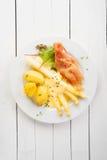 Espárrago y jamón con mayonesa Fotografía de archivo