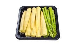 Espárrago y maíz de bebé. fotografía de archivo libre de regalías