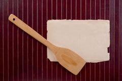 Espátula de madeira da cozinha Fotografia de Stock Royalty Free