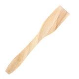 Espátula de madera para cocinar en blanco Foto de archivo