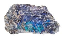 Espécime da pedra da labradorite isolado fotografia de stock royalty free