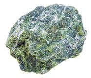 Espécime da pedra serpentina isolado foto de stock