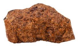 Espécime do minério de ferro do marrom do limonite isolado fotografia de stock royalty free
