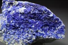 Espécimen azul eléctrico raro del mineral de Hauyne Imágenes de archivo libres de regalías
