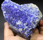 Espécimen azul raro del mineral de Hauyne Fotografía de archivo libre de regalías