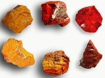 Espécimes do jaspe Imagem de Stock Royalty Free