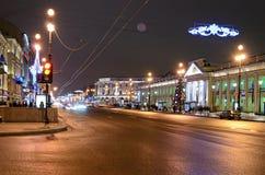 Espérance de Nevsky dans l'illumination de soirée images stock