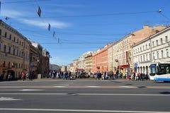 Espérance de Nevsky, St Petersburg, Russie image stock