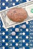 Espérance pour gagner le loto Images stock