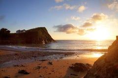 Espérez la crique, Devon, Angleterre Images libres de droits