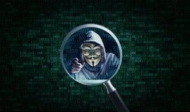 Espía del pirata informático usted Fotografía de archivo