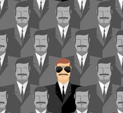 espía Modelo inconsútil de la gente Una muchedumbre de hombres ilustración del vector