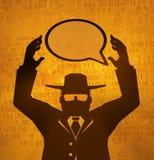 Espía virtual, control del discurso Fotos de archivo