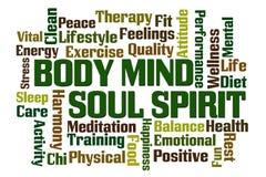Espírito da alma da mente do corpo ilustração royalty free