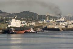Espírito de Hoveden que incorpora a expansão do canal do Panamá dos fechamentos de Cocolà fotografia de stock