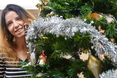 Espírito do Natal? com Santa e Noel Fotografia de Stock Royalty Free