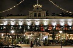 Espírito do Natal nos salões de beleza de Berna em Éstocolmo fotos de stock