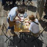Espírito do terraço no verão Fotografia de Stock Royalty Free