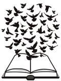 Espírito Santo da Bíblia, um grupo de voo da pomba acima da Bíblia Imagem de Stock Royalty Free
