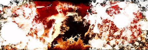 Espírito turbulento dos fantasmas no fundo do inferno ilustração stock