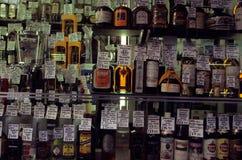 Espírito vendidos em uma loja em Londres. Imagens de Stock