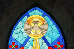 Espíritu Santo del vitral Imagen de archivo