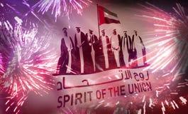 Esp?rito do dia nacional de Emiratos ?rabes Unidos da uni?o ilustração royalty free