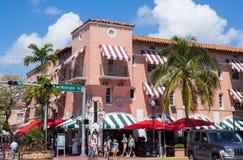 Española Way Miami Beach Stock Photos