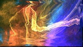 Espaço abstrato colorido do fundo, universo ilustração do vetor