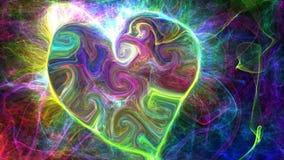 Espaço abstrato colorido dos corações do fundo, universo Imagens de Stock Royalty Free
