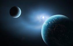 Espaço azul ilustração do vetor