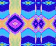 Espaço azul alaranjado do lilás do verde amarelo do ornamento Imagens de Stock