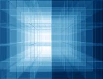 Espaço azul virtual ilustração do vetor