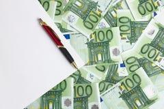 Espaço branco para a contabilidade Fotografia de Stock